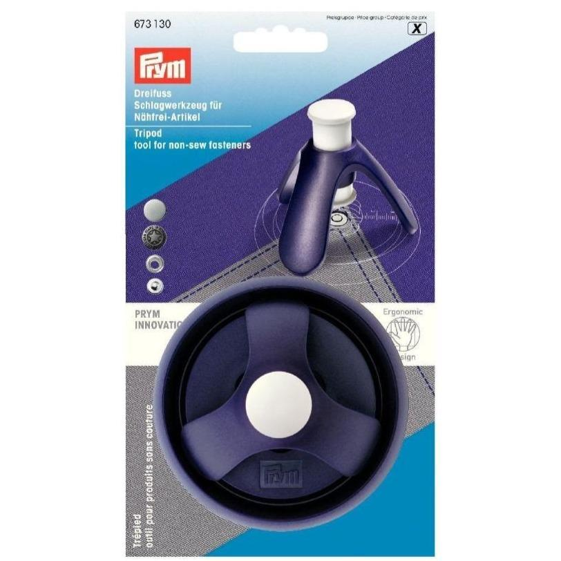 Prym 673130 tripod tool for non-sew fasteners