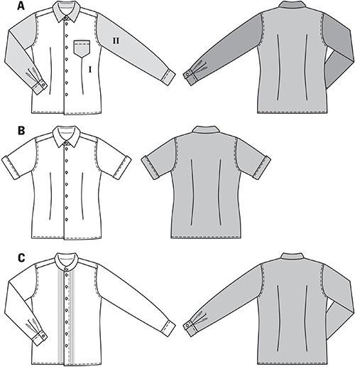 BD6931 Men's Shirts pattern | Average
