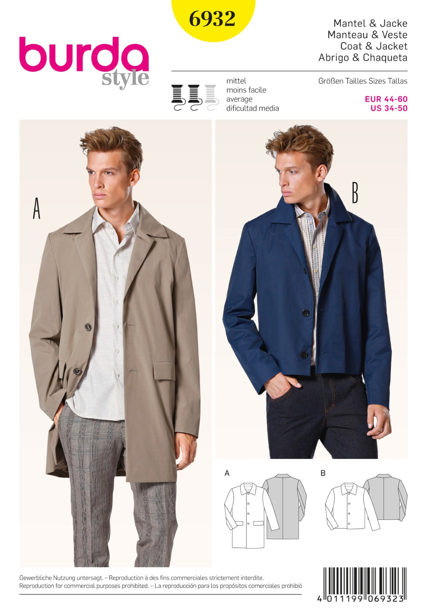 BD6932 Men's Coat & Jacket | Average