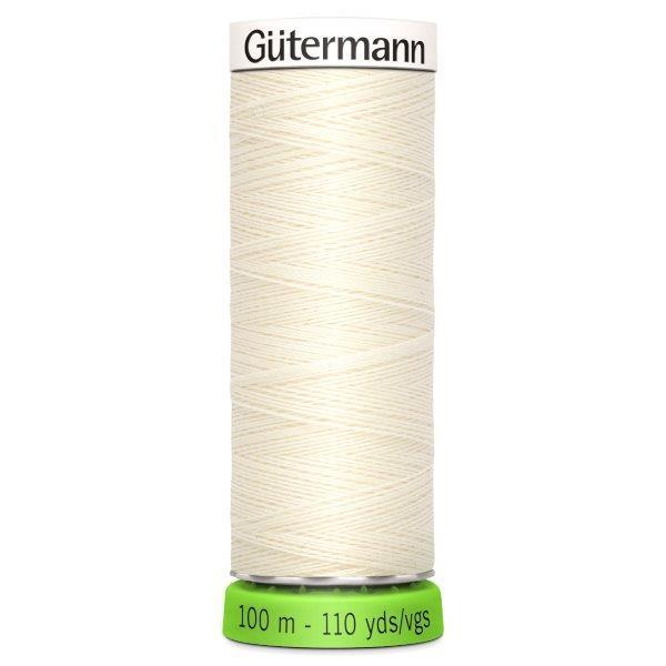 Gutermann Recycled Thread | 100m | Colour Ivory from Jaycotts Sewing Supplies