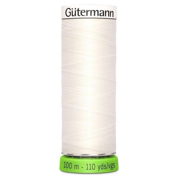Gutermann Recycled Thread | 100m | Colour 111 Off White from Jaycotts Sewing Supplies