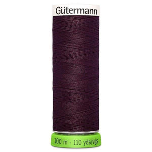 Gutermann Recycled Thread | 100m | Colour 130 Burgundy from Jaycotts Sewing Supplies