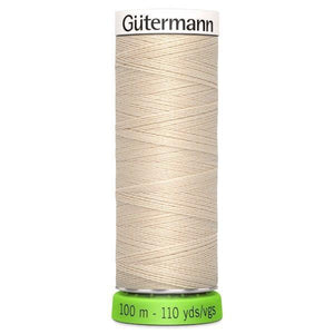 Gutermann Recycled Thread | 100m | Colour 169 Cream from Jaycotts Sewing Supplies