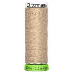 Gutermann Recycled Thread | 100m | Colour 186 Beige from Jaycotts Sewing Supplies