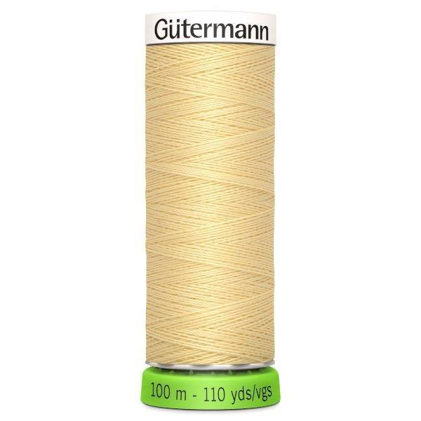 Gutermann Recycled Thread | 100m | Colour 325 Creamy Yellow