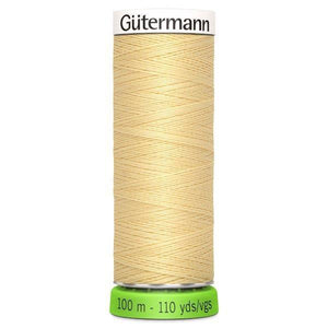 Gutermann Recycled Thread | 100m | Colour 325 Creamy Yellow from Jaycotts Sewing Supplies