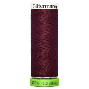 Gutermann Recycled Thread | 100m | Colour 369 Wine from Jaycotts Sewing Supplies