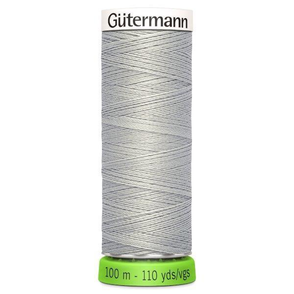 Gutermann Recycled Thread | 100m | Colour 38 Grey from Jaycotts Sewing Supplies