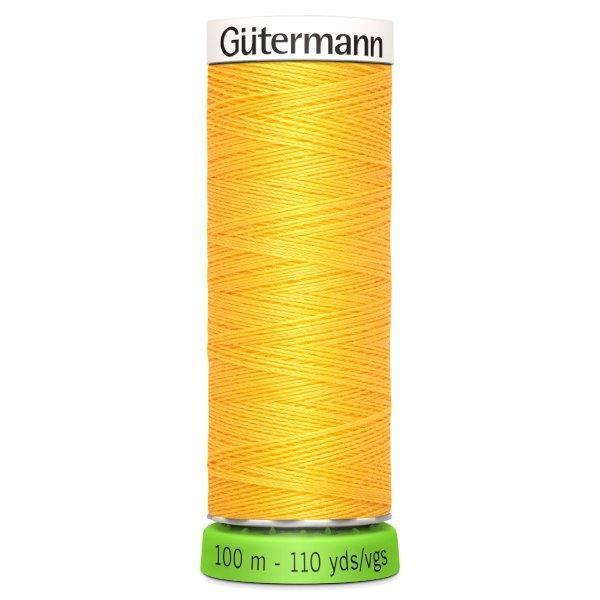 Gutermann Recycled Thread | 100m | Colour 417 Yellow from Jaycotts Sewing Supplies