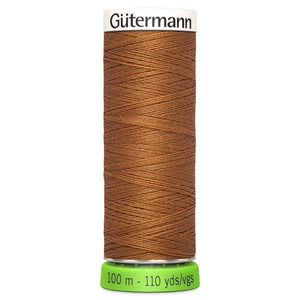 Gutermann Recycled Thread | 100m | Colour 448 Copper from Jaycotts Sewing Supplies
