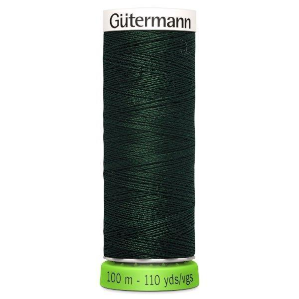 Gutermann Recycled Thread | 100m | Colour 472 Dark Green from Jaycotts Sewing Supplies