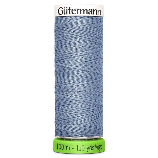 Gutermann Recycled Thread | 100m | Colour 64 Greyish Blue from Jaycotts Sewing Supplies