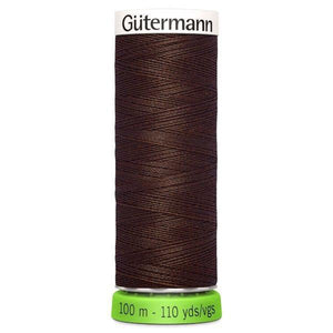Gutermann Recycled Thread | 100m | Colour 694 Dark Brown from Jaycotts Sewing Supplies