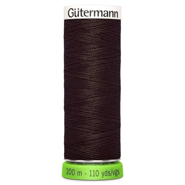 Gutermann Recycled Thread | Colour 696 Dark Brown from Jaycotts Sewing Supplies