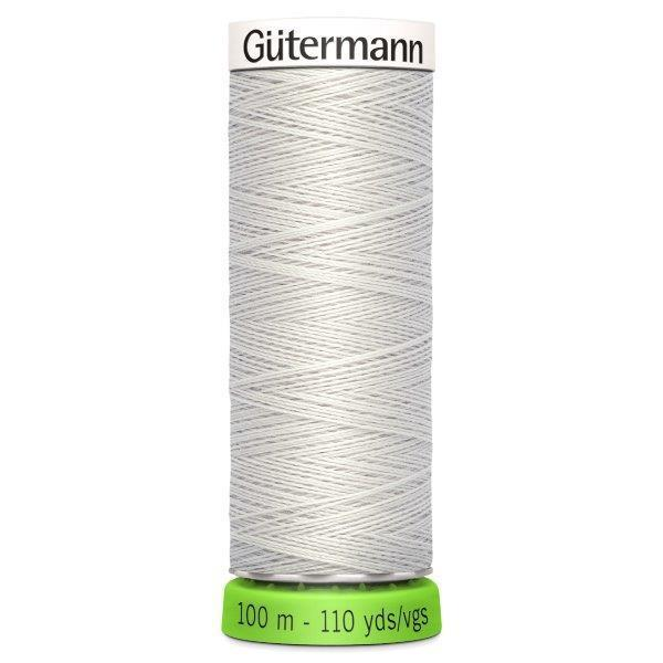 Gutermann Recycled Thread | 100m | Colour 8 Soft Grey from Jaycotts Sewing Supplies