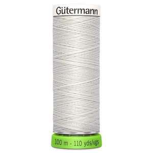 Gutermann Recycled Thread | 100m | Colour 8 Soft Grey