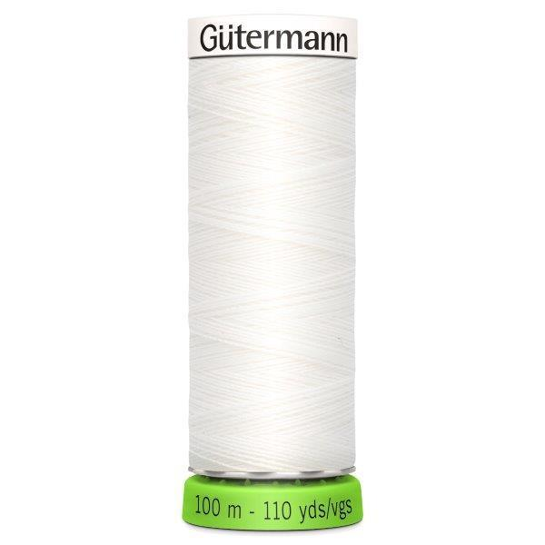 Gutermann Recycled Thread | 100m | Colour 800 White from Jaycotts Sewing Supplies