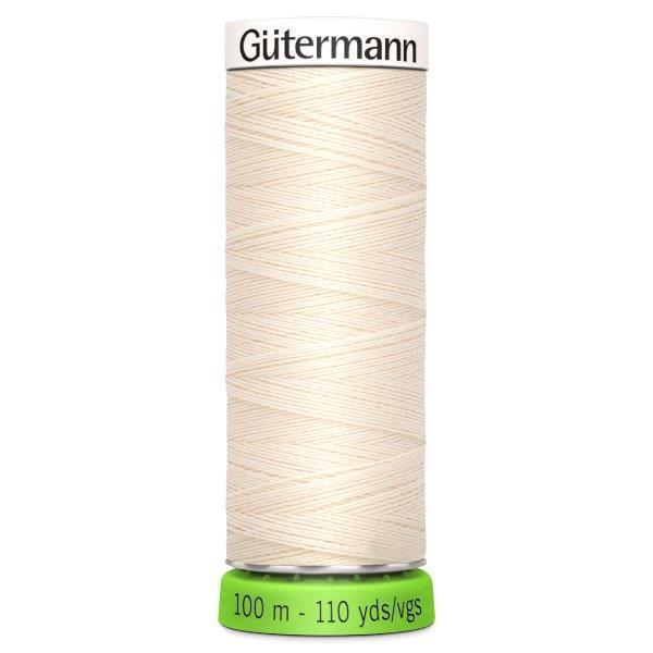 Gutermann Recycled Thread | Colour 802 Ecru from Jaycotts Sewing Supplies
