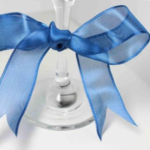 Wired Edge Organza Ribbon | Dark Blue
