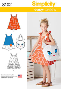 Simplicity Pattern 8102 Childs Sundress and tote bag
