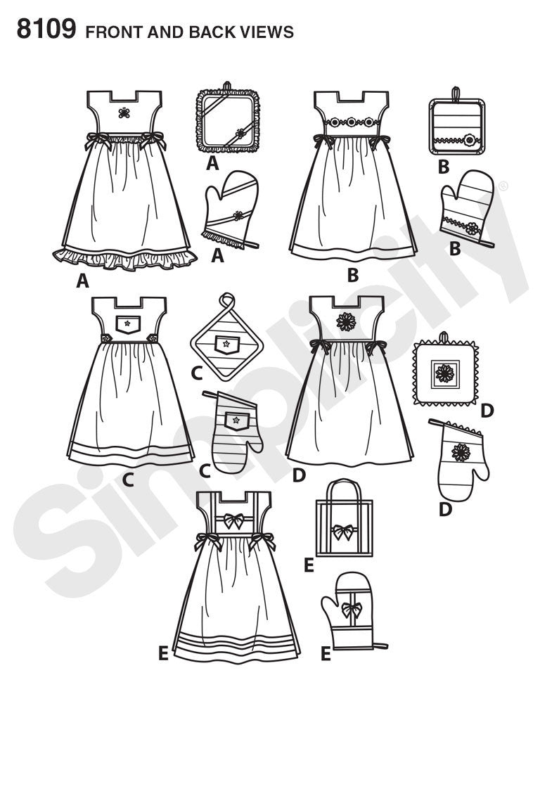 Simplicity Pattern 8109  towel dresses from Jaycotts Sewing Supplies