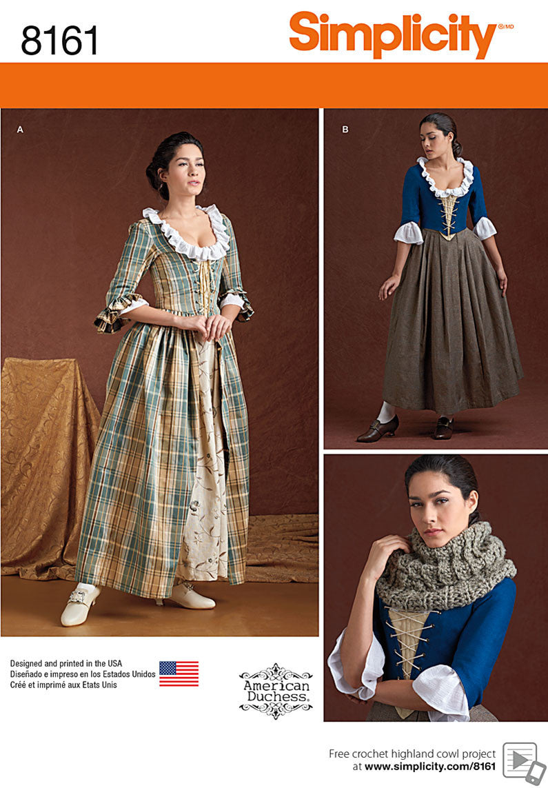 S8161 Misses' 18th Century Costumes