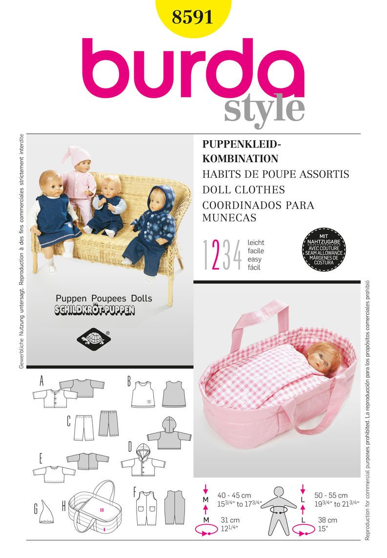 BD8591 Doll Clothes | Easy
