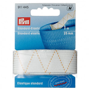Prym standard white elastic choice of sizes from Jaycotts
