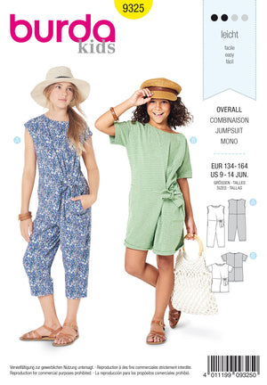 BD9325 Child's jumpsuit sewing pattern