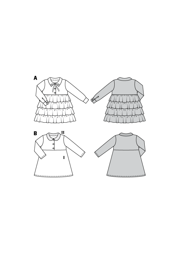 BD9332 Child's Dress pattern from Jaycotts Sewing Supplies