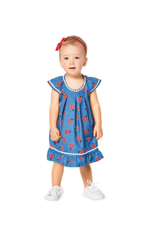 BD9338 Toddler's Blouse and Dress Pattern