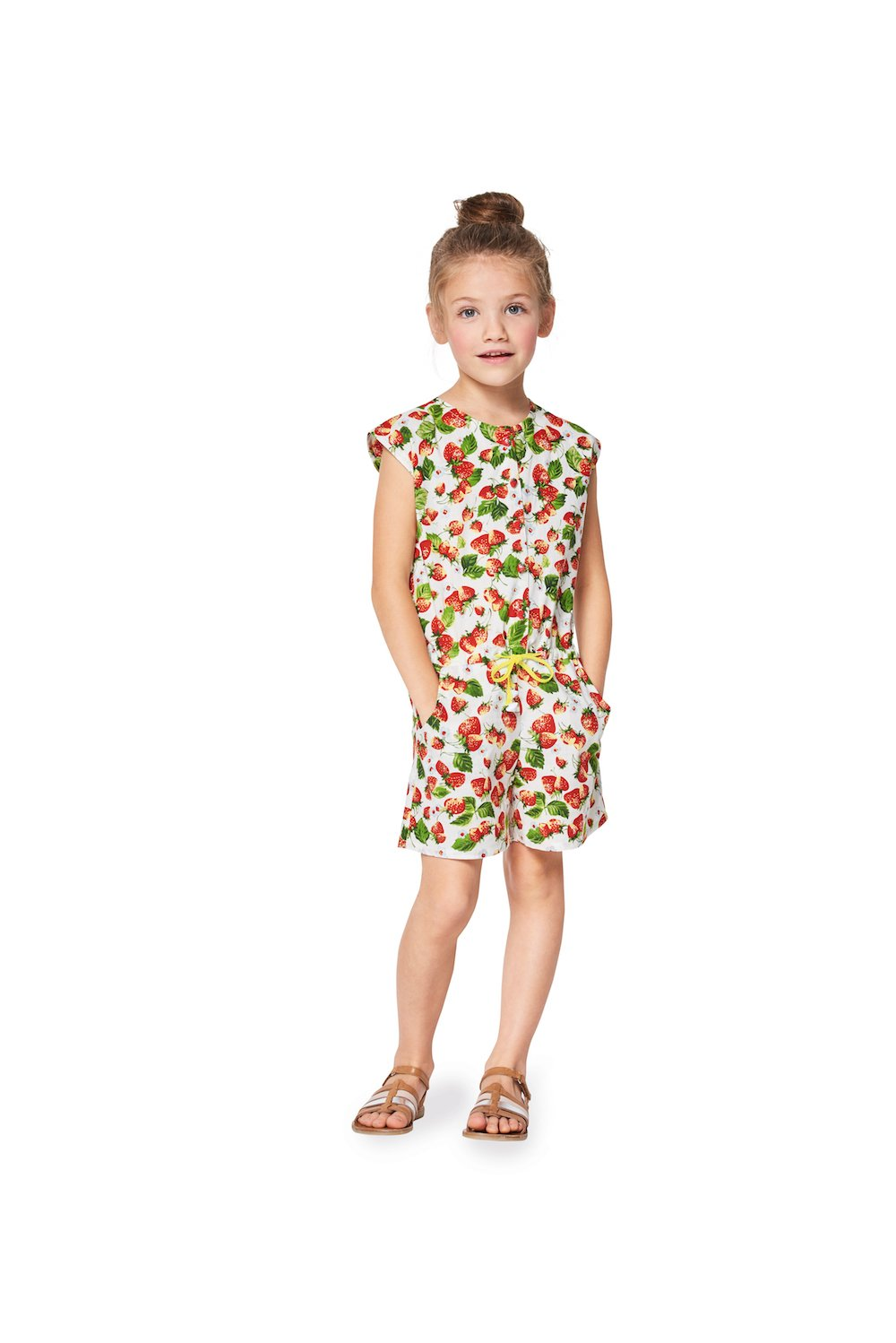 BD9343 Girls Jumpsuit Pattern | Dropped Waist