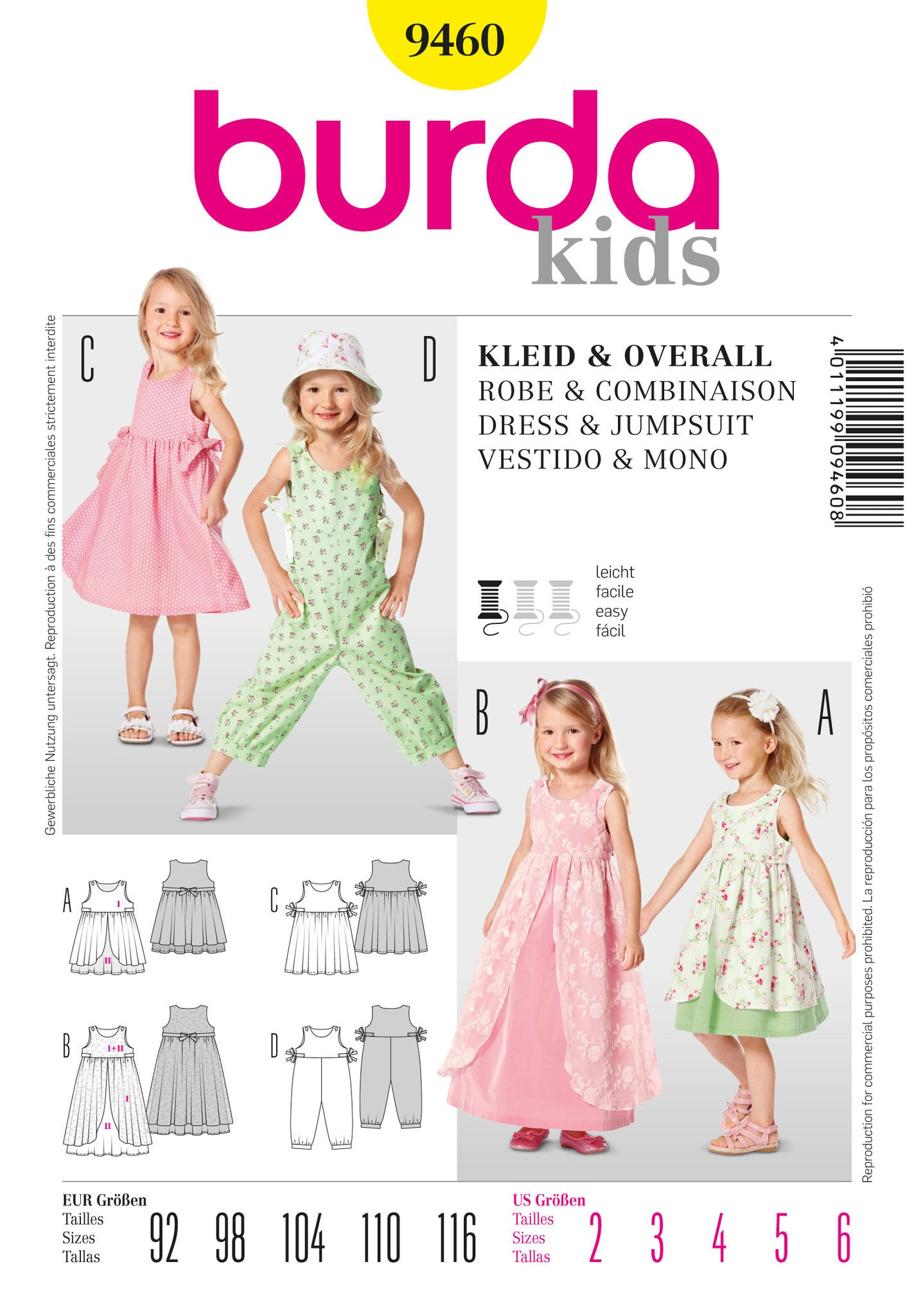 BD9460 Girls' Dress & Jumpsuit | Easy