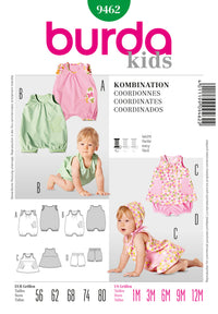 BD9462 Babies' Outfit Pieces | Easy from Jaycotts Sewing Supplies