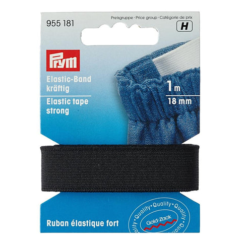 Prym Strong elastic in black or white from Jaycotts