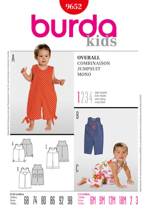 BD9652 Toddlers' Jumpsuit | Very Easy from Jaycotts Sewing Supplies