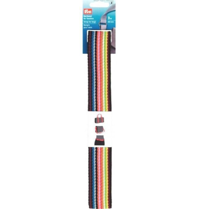 Prym Wide Strap / webbing for bags - Rainbow from Jaycotts Sewing Supplies
