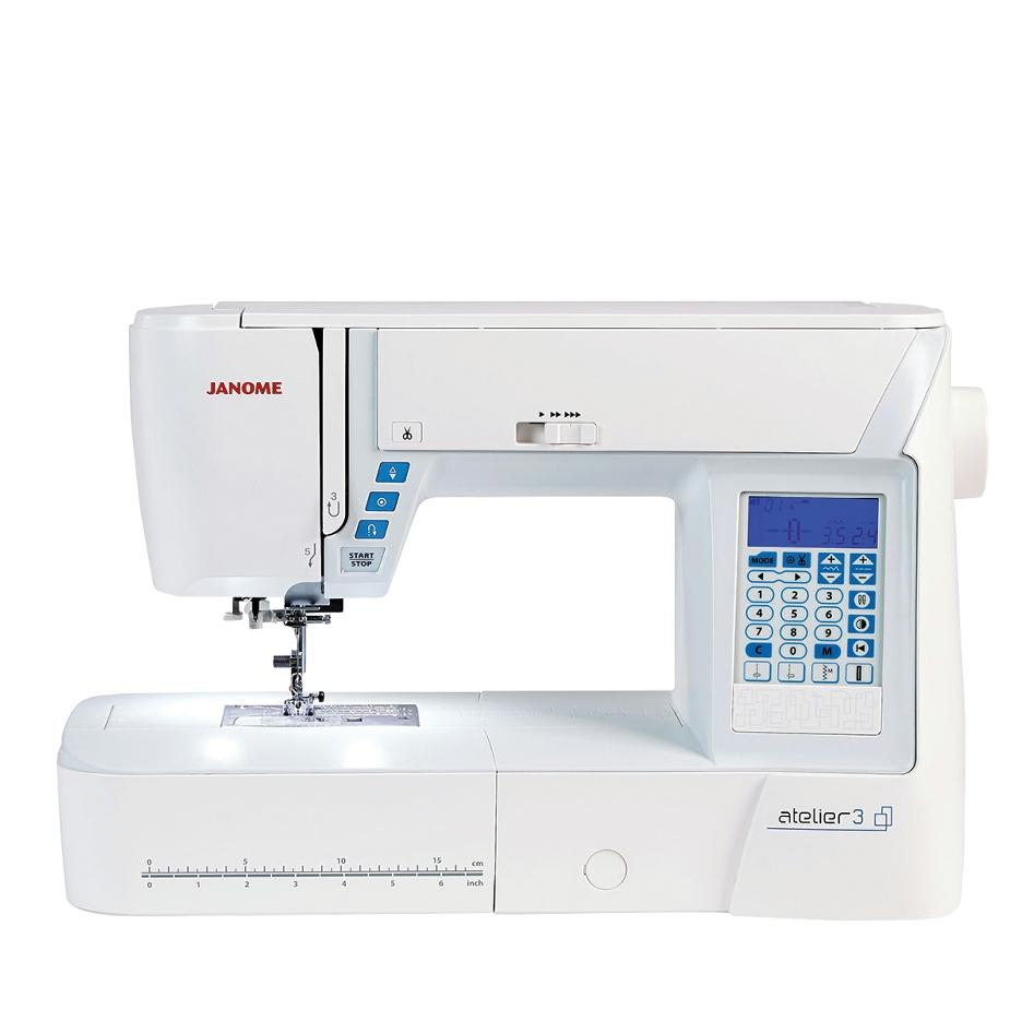 Janome ATELIER 3 sewing machine from Jaycotts Sewing Supplies