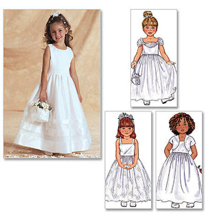 B3351 Girls' Jacket & Dress | Bridal | Easy from Jaycotts Sewing Supplies