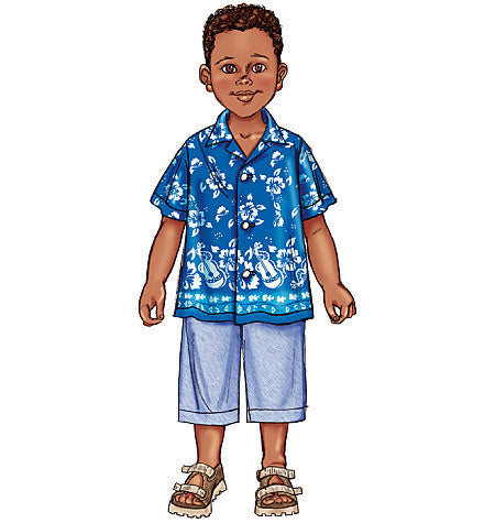 B3475 Boy's Shirt & Shorts | Easy
