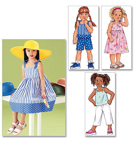 B3477 Children's Dress, Top, Short & Pants | Very Easy