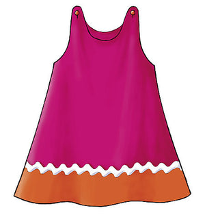 B3772 Toddler's & Children's Dress