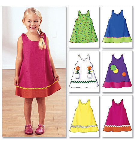 B3772 Toddler's and Children's Dress pattern