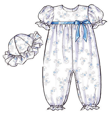 B4110 Infants' Dress, Panties, Jumpsuit & Hat