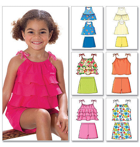 Butterick Pattern: B4503 Girls' Top, Skort & Shorts | Very