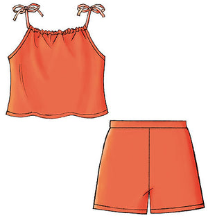 B4503 Girls' Top, Skort & Shorts | Very Easy
