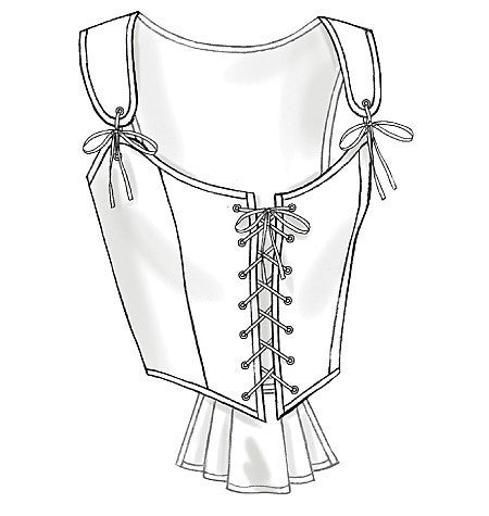 B4669 Misses' Historical Corsets