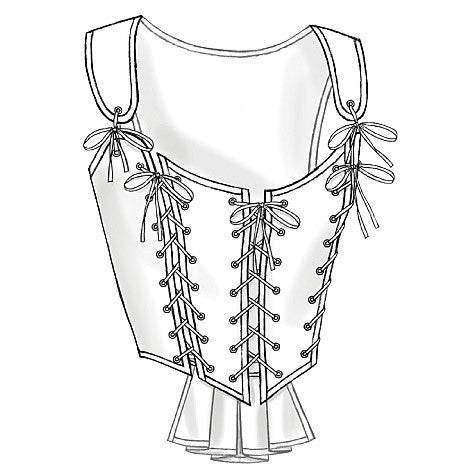 Butterick Sewing Pattern B4669 for Women's Historical Corsets