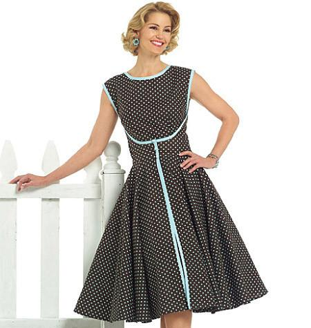 57af49a76ed B4790 Misses  Vintage Wrap Dress