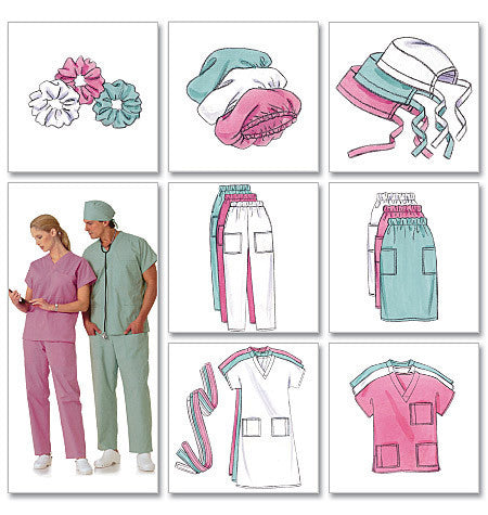 B4946 Unisex Medical Uniforms Pattern